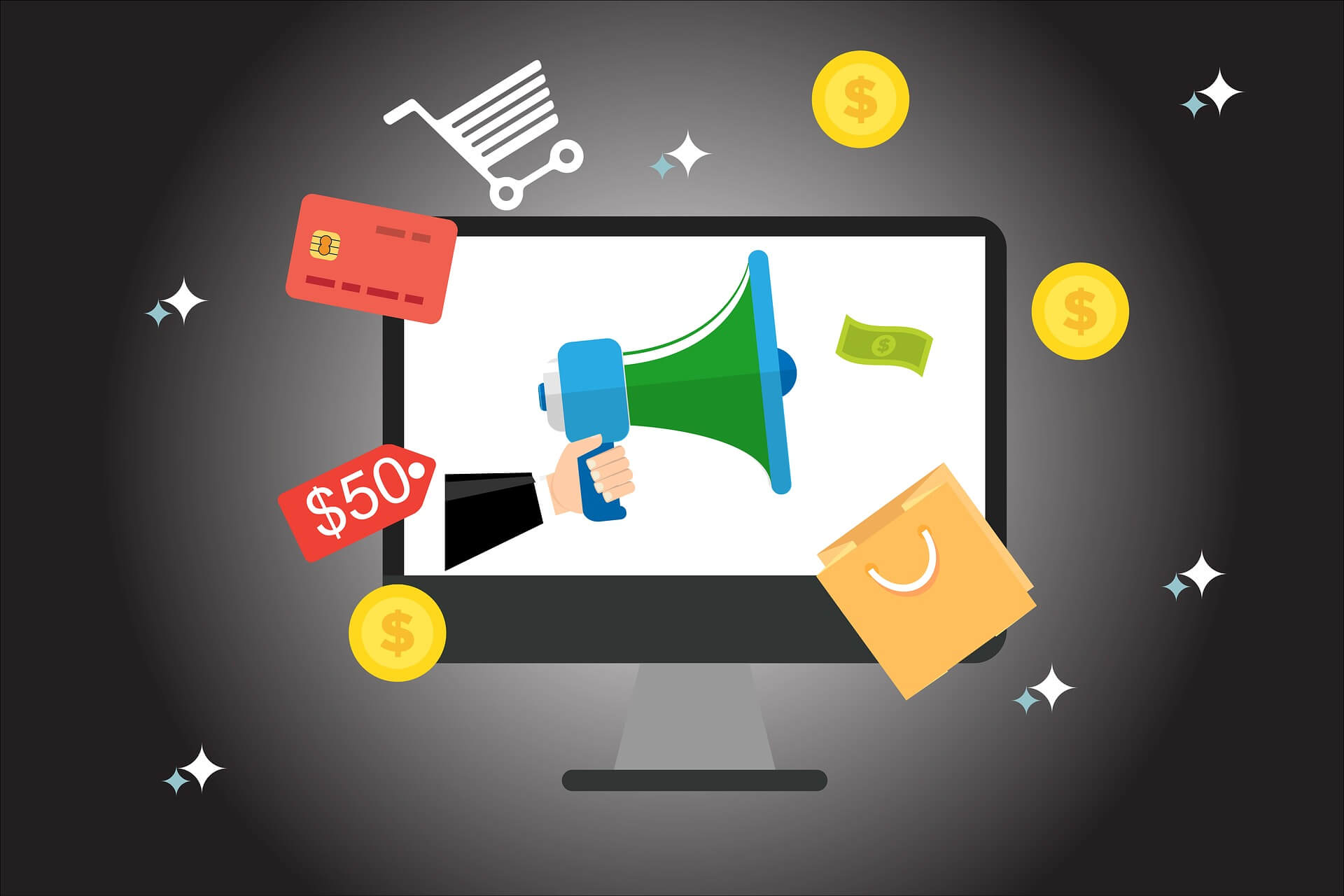 laptop icons e-commerce optimization