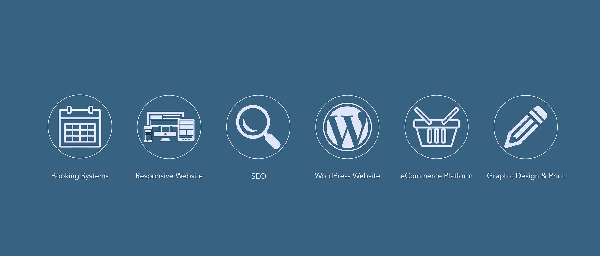 modre ikone WordPress Strokovnjaki