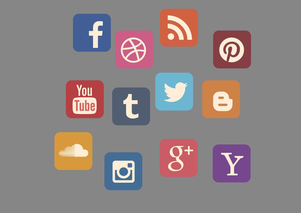 vektorske ikone Družabni Mediji